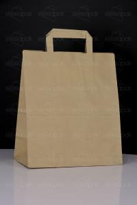 A3 torba papierowa brązowa uchwyt płaski ekologiczna