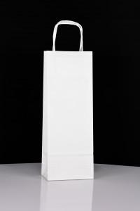 Wąska torba papierowa ekologiczna do nadruku
