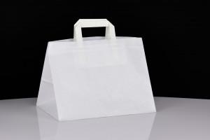 Biała torba ekologiczna do nadruku w kształcie stożka