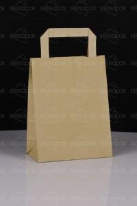 A1 torba papierowa brązowa uchwyt płaski - ekologiczna