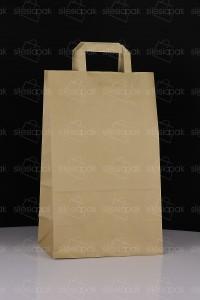A4 torba papierowa brązowa uchwyt płaski ekologiczna