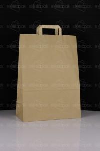 A5 torba papierowa brązowa uchwyt płaski ekologiczna